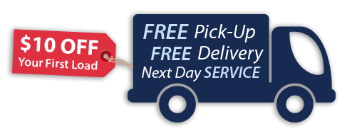 Free dry cleaning pick and delivery service