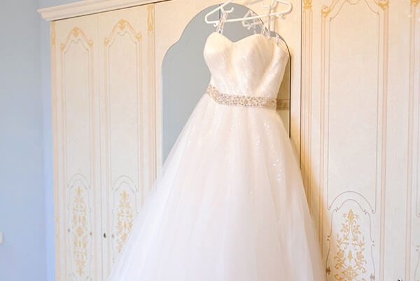 Wedding gown dry cleaner